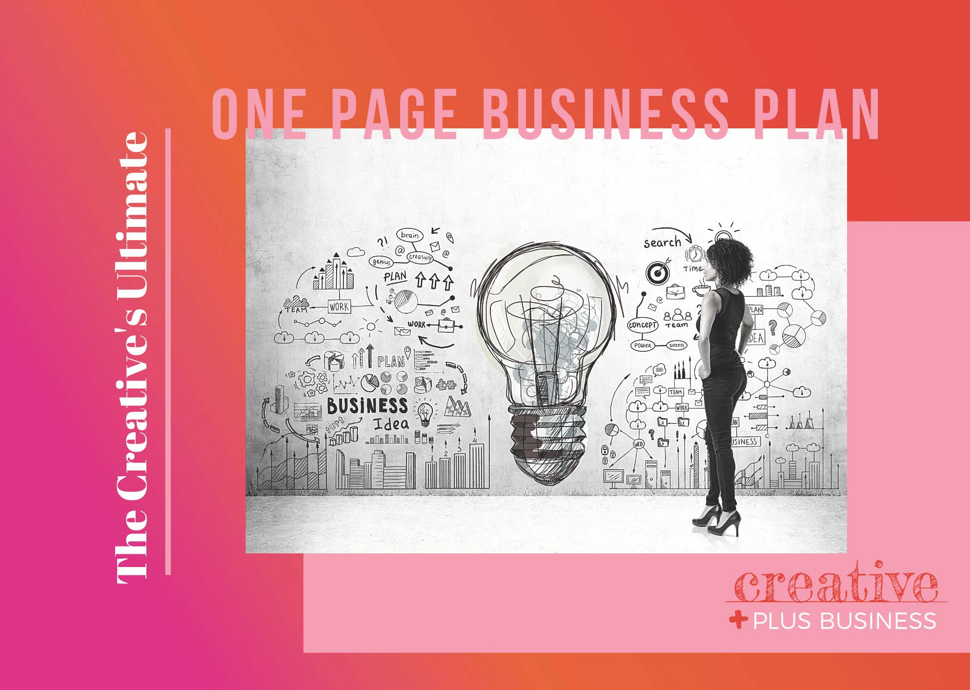 One page Business Plan for Creative people
